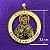 Medalha dourada de Sagrado Coração de Jesus - A Dúzia - Cód.: 0652 - Imagem 1
