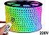 MANGUEIRA LED CHATA 5050 RGB 16 CORES 220V - Imagem 1