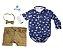 Camisa Bruno - Azul Marinho Estampa âncora | Azul e branca - Imagem 4