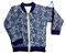 Jaqueta Bomber - Azul estampada - Imagem 1