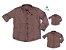 Kit camisa Cadú - Família (três peças) | Xadrez Laranja - Imagem 1