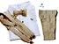 Conjunto Fausto - Calça Alfaiataria Linho, camisa e acessórios (4 peças) | Bege Claro - Imagem 1