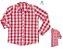 Kit camisa Cadú - Tal pai, tal filho (duas peças) | Xadrez Vermelho Claro - Imagem 1