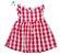 Vestido Carol - Xadrez Vermelho - Imagem 1