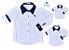 Kit camisa Antony - Família (três peças) |Branca e azul marinho - Imagem 1