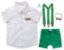 Conjunto Sandro - Safari (4 peças) | Personalizado com nome do bebê | Verde e Bege - Imagem 1