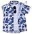 Camisa Ben - Estampa Folhas Azul - Imagem 2