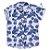 Camisa Ben - Estampa Folhas Azul - Imagem 1