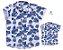 Kit Camisa Ben - Tal mãe, tal filho (a) (duas peças) | Folhas Azul - Imagem 1