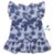 Vestido Cloe - Estampado Folhas Azul - Imagem 2