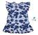 Vestido Cloe - Estampado Folhas Azul - Imagem 1