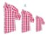 Kit camisa Cadú - Família (três peças) | Xadrez vermelha | Fazendinha - Imagem 1