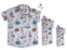 Kit camisa Nico - Família (três peças) | Estampada | Náutica  - Imagem 1