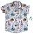 Conjunto Nico - Camisa Estampada e Bermuda Bege (duas peças) - Imagem 2