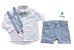 Conjunto Fausto - Bermuda Alfaiataria Linho, camisa e acessórios (4 peças) | Linho Azul Claro - Imagem 2