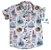 Conjunto Nico - Camisa, Bermuda e suspensório (três peças) | Marinheiro |Fundo do mar - Imagem 2