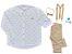 Conjunto Evair - Camisa Coroa e Calça Bege (quatro peças) | Pequeno Príncipe - Imagem 3