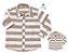 Kit camisa Matheus - Tal pai, tal filho (duas peças) | Linho | Bege - Imagem 1