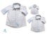 Kit camisa Alec - Família (três peças) |  poá | Manga Longa - Imagem 1