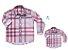 Kit camisa Rafael - Tal pai, tal filho (duas peças) | Xadrez Rosa - Imagem 2