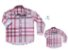 Kit Camisa Rafael - Tal mãe, tal filho  (duas peças) | Xadrez Rosa - Imagem 2