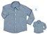 Kit camisa Fausto - Azul | Tal pai, tal filho (duas peças) | Linho - Imagem 1