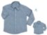 Kit Camisa Cauã - Azul | Tal mãe, tal filho  (duas peças) | Linho - Imagem 1