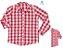 Kit Camisa Cadú - Tal mãe, tal filho (a) (duas peças) | Xadrez Vermelho - Imagem 2