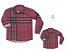 Kit camisa Rafael - Tal pai, tal filho (duas peças)   Xadrez Vermelha - Imagem 1