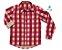 Camisa Tom - Xadrez vermelha e bege | Fazendinha - Imagem 1