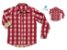 Kit camisa Tom - Tal pai, tal filho (duas peças) | Xadrez Vermelha e Bege - Imagem 1