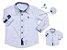Kit camisa Fil - Tal pai, tal filho (duas peças) | Branca com detalhes - Imagem 1