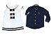 Conjunto Nicole e Nicolas - Vestido e Camisa | Branco e Navy - Imagem 1