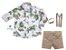 Conjunto Beto - Camisa Dino e Bermuda Bege (quatro peças) | Dino - Imagem 1