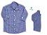 Kit camisa Cadú - Tal pai, tal filho (duas peças) | Xadrez Azul  | Fazendinha - Imagem 1