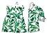 Conjunto Dado e Duda - Vestido e Camisa | Folhas | Irmãos - Imagem 1