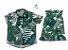 Conjunto Luke e Lala  - Vestido e Camisa | Folhas | Viscolinho - Imagem 1