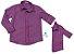 Kit camisa Cadú - Xadrez Lilás |  Tal pai, tal filho (duas peças) |Fazendinha - Imagem 2