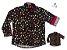 Kit camisa Mickey -  Preta | Tal pai, tal filho (duas peças) | Personalize com as inicias dos nomes - Imagem 1