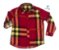 Kit camisa Olavo - Xadrez Vermelho | Tal pai, tal filho (duas peças) | Fazendinha - Imagem 2