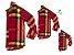 Kit camisa Olavo - Família (três peças) | Xadrez Vermelho - Imagem 1