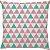 Capa de Almofada Delta Rosa e Tiffany - Imagem 1