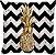 Capa de Almofada Abacaxi Chevron  - Imagem 1