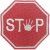 PLACA STOP MÃO - Imagem 1
