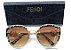 Óculos de Sol -  Fendi Ff 0290 S Gatinho -  Dourado/ Animal Print  - Imagem 1