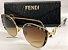 Óculos de Sol -  Fendi Ff 0290 S Gatinho -  Dourado/ Animal Print  - Imagem 2