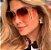 Tom Ford Maxi Óculos  - Oculos de Sol / Armação Dourada Leve Vazado Lente Azul Degrade - Imagem 2