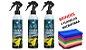 3 Auto Protection Titanium 300ml - Brinde 3 Flanelas de Microfibra + borrifador GRÁTIS (Cristaliza 3 a 5 veículos em média   - Imagem 1