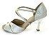 Sandália para Dança de Salão Prata Cromado - Imagem 1