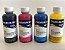 Kit 4 TINTA CORANTE INKTEC PARA EPSON | MODELO E0010-100MB | 4X FRASCO DE 100ML - Imagem 1